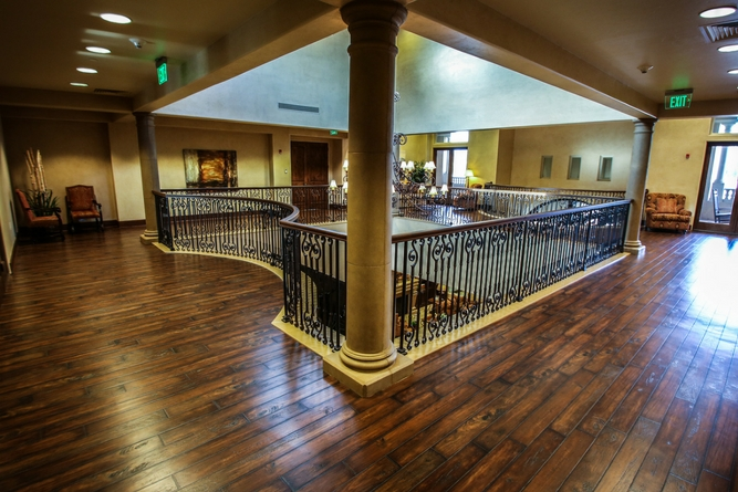 upstairs reception area